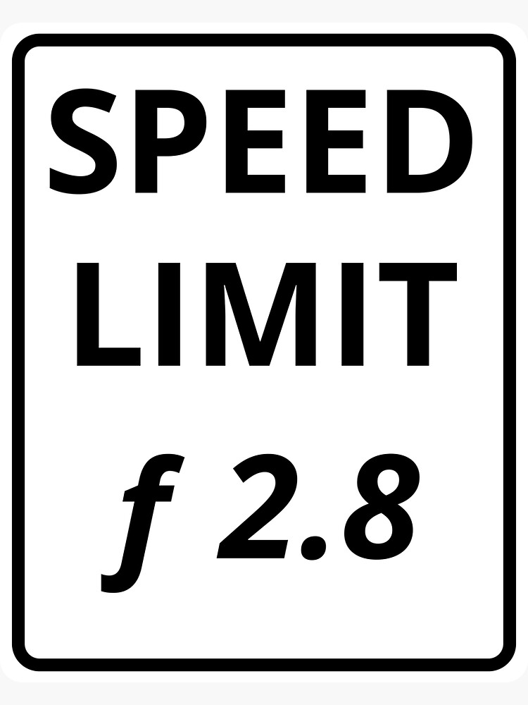 Photography Speed Limit by VCOBA