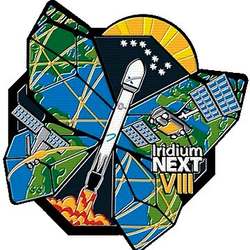 Iridium Next Launch 8 Logo by Spacestuffplus