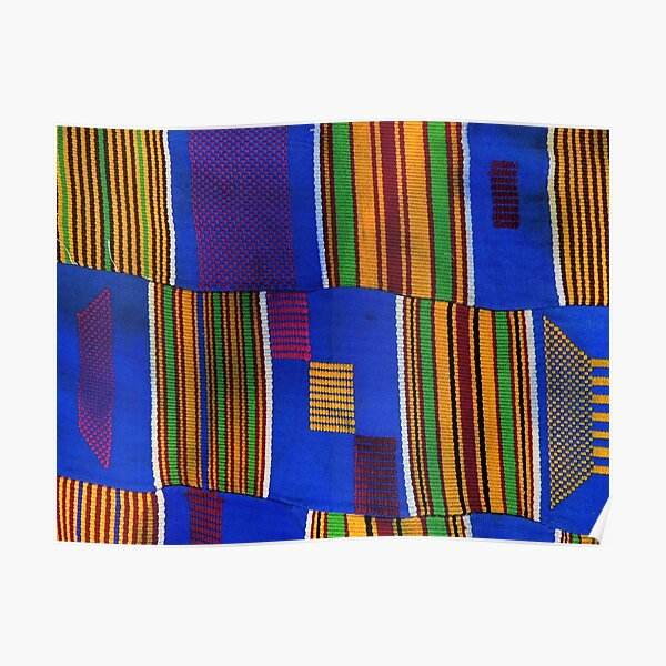 Kente Cloth Ghana West African Print Poster