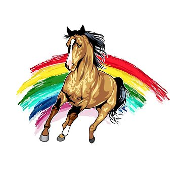 Cute Rainbow Horse for Horse Lovers by perfectpresents