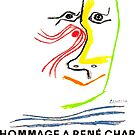 Hommage A Rene Char, Art Exhibit Advertising Print By Pablo Picasso, 1969 Artwork Reproduction, Prints, Posters, Tshirts by Art-O-Rama ®