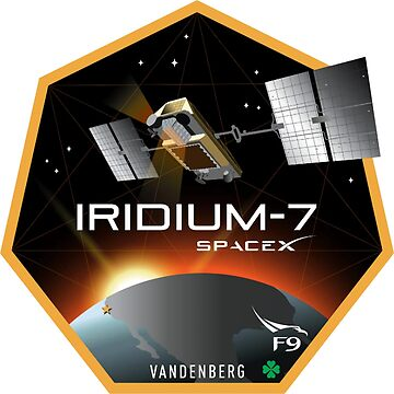 Iridium Next Launch 7 Program Logo by Spacestuffplus