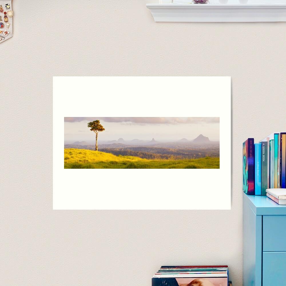 One Tree Hill, Glass House Mountains, Queensland, Australia Art Print