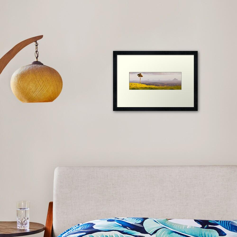 One Tree Hill, Glass House Mountains, Queensland, Australia Framed Art Print