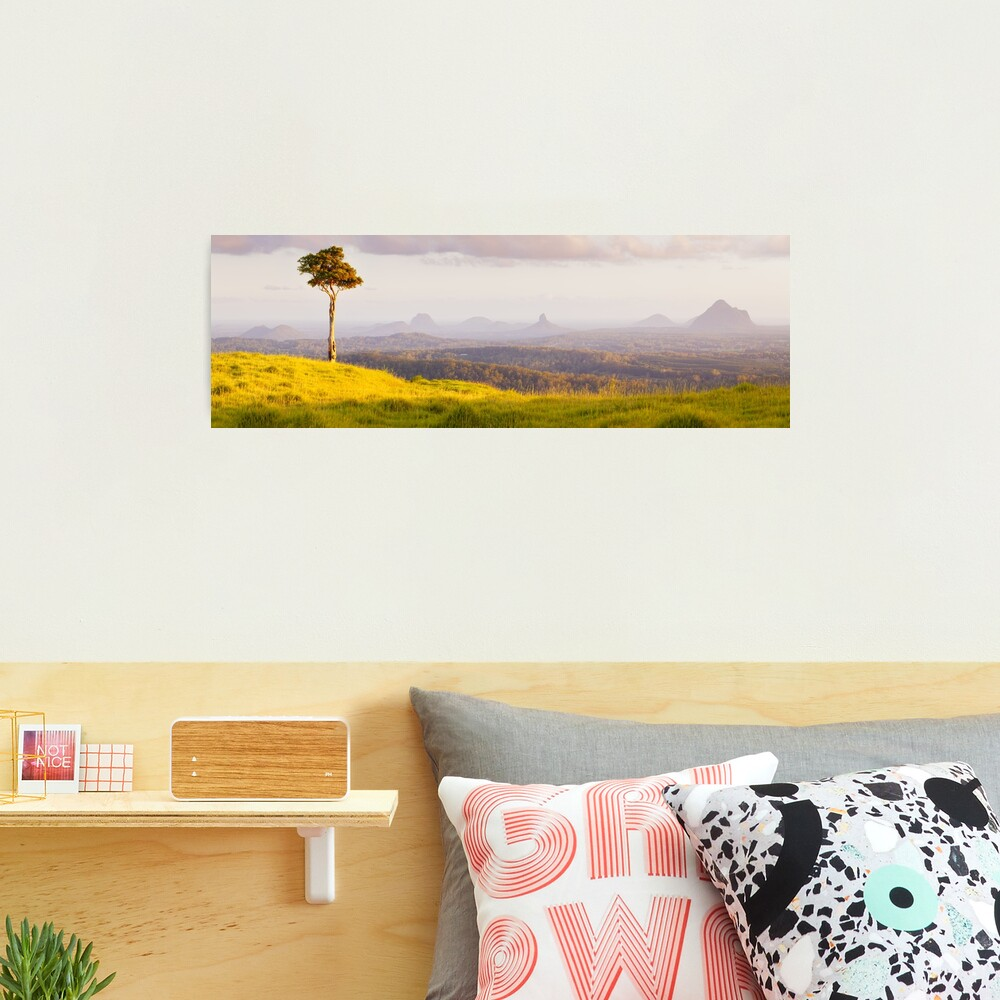 One Tree Hill, Glass House Mountains, Queensland, Australia Photographic Print