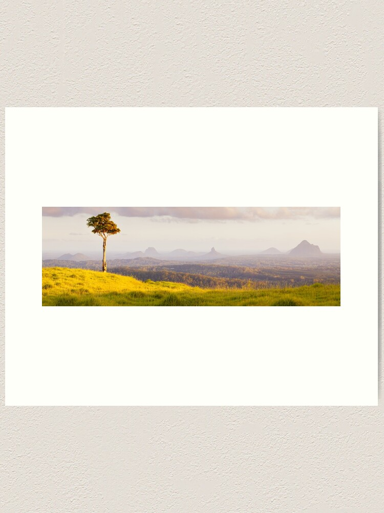 Alternate view of One Tree Hill, Glass House Mountains, Queensland, Australia Art Print