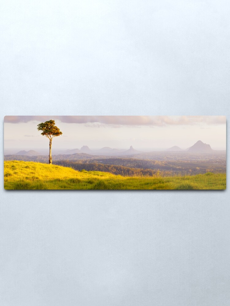 Alternate view of One Tree Hill, Glass House Mountains, Queensland, Australia Metal Print