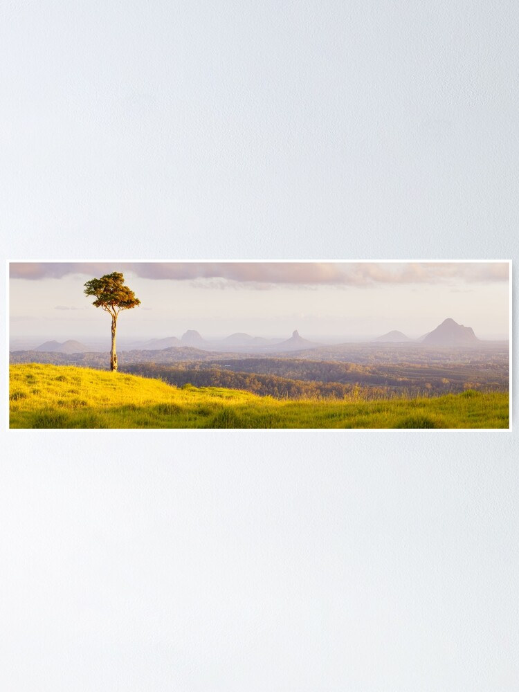 Alternate view of One Tree Hill, Glass House Mountains, Queensland, Australia Poster