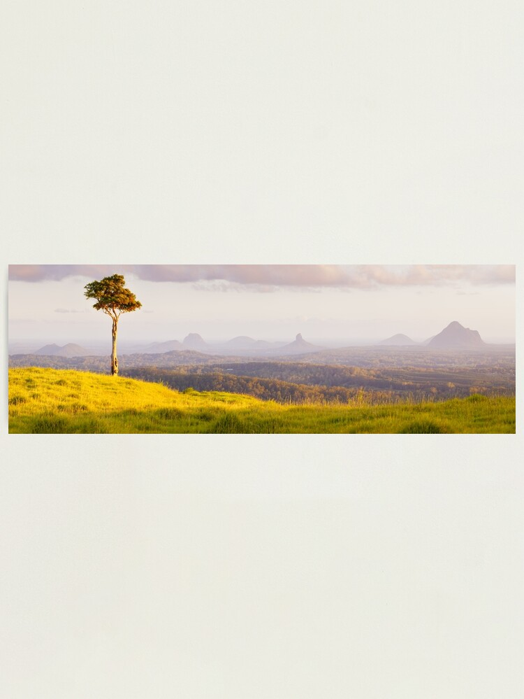 Alternate view of One Tree Hill, Glass House Mountains, Queensland, Australia Photographic Print