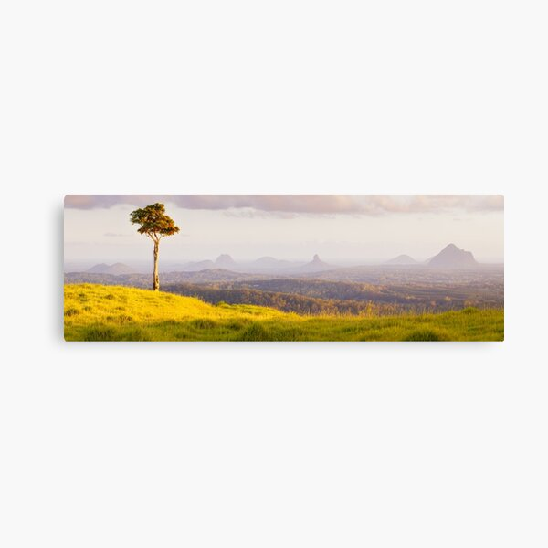 One Tree Hill, Glass House Mountains, Queensland, Australia Canvas Print