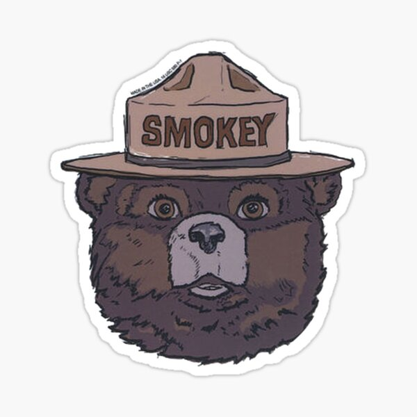 Smokey the Bear - Fire Prevention Sticker