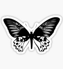 Black Butterfly Vector Art Sticker