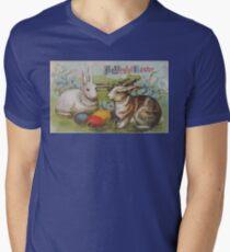 Ein frohes Osterfest T-Shirt mit V-Ausschnitt