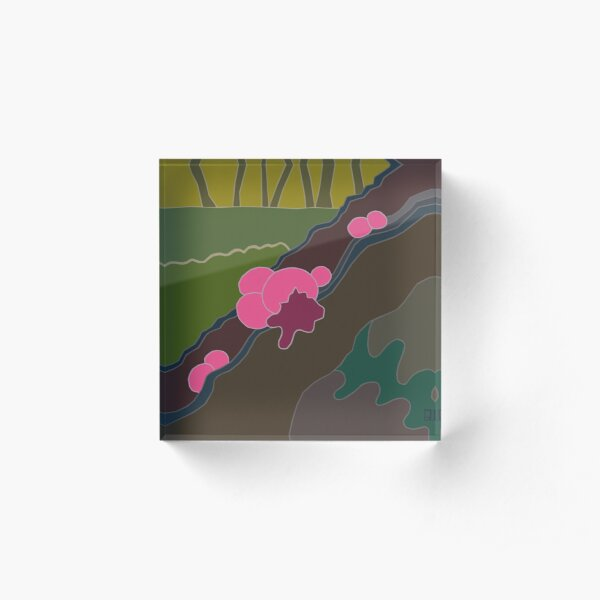 Pink Wolf Slime Acrylic Block