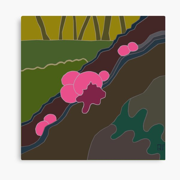 Pink Wolf Slime Canvas Print
