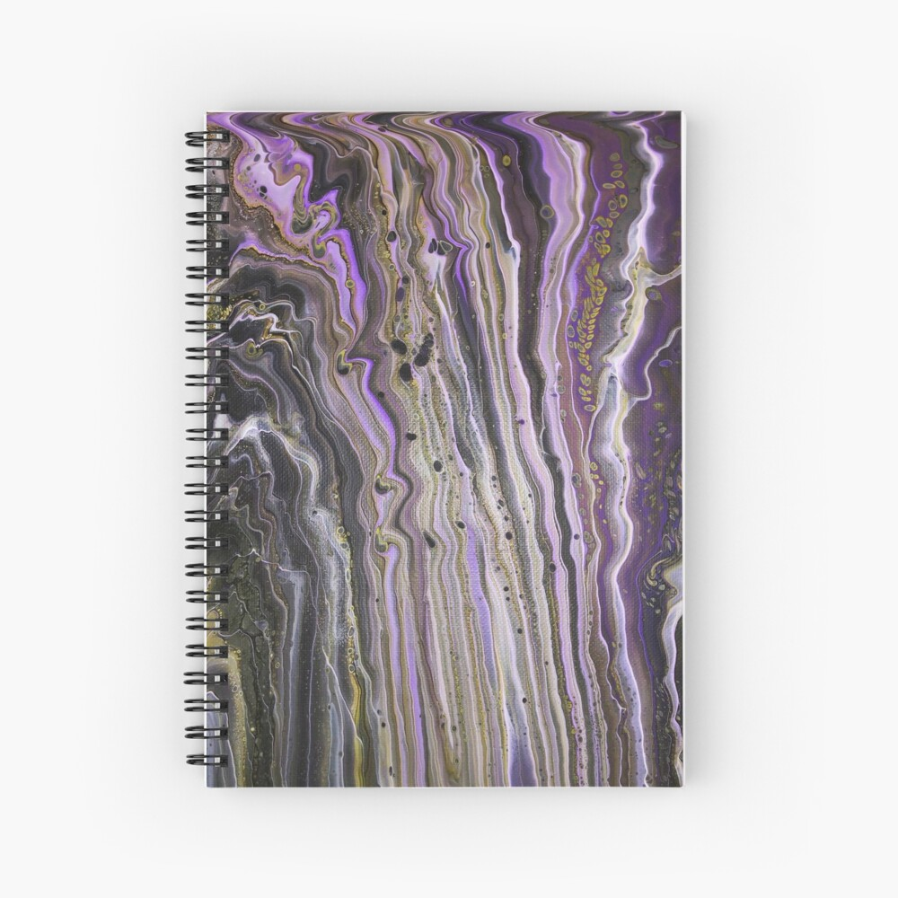 Purple Hive Spiral Notebook