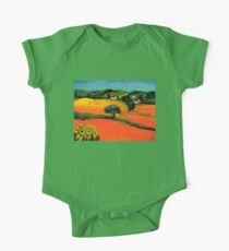 TUSCANY LANDSCAPE  WITH SUNFLOWERS One Piece - Short Sleeve