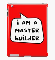 I AM A MASTER BUILDER by Bubble-Tees.com iPad Case/Skin