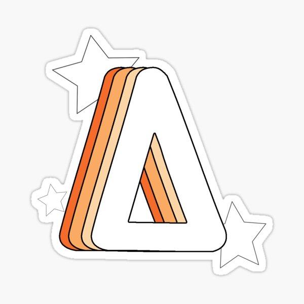Retro Delta (Orange) Sticker