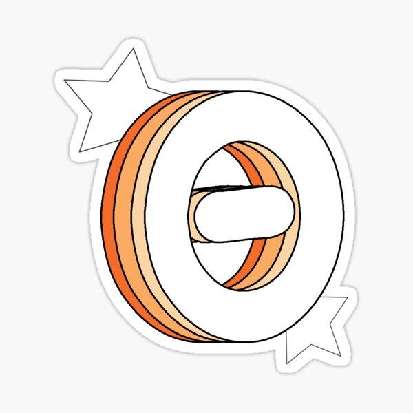 Retro Theta (Orange) Sticker