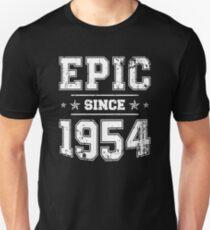 Epic Since 1954 65th Birthday Retro Style Vintage Unisex T Shirt