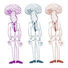 Three Mushroom Heads by Judy Boyle