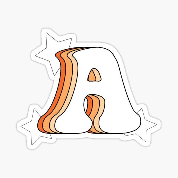 Retro A (Orange) Sticker
