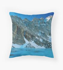 Blue Chasm Throw Pillow