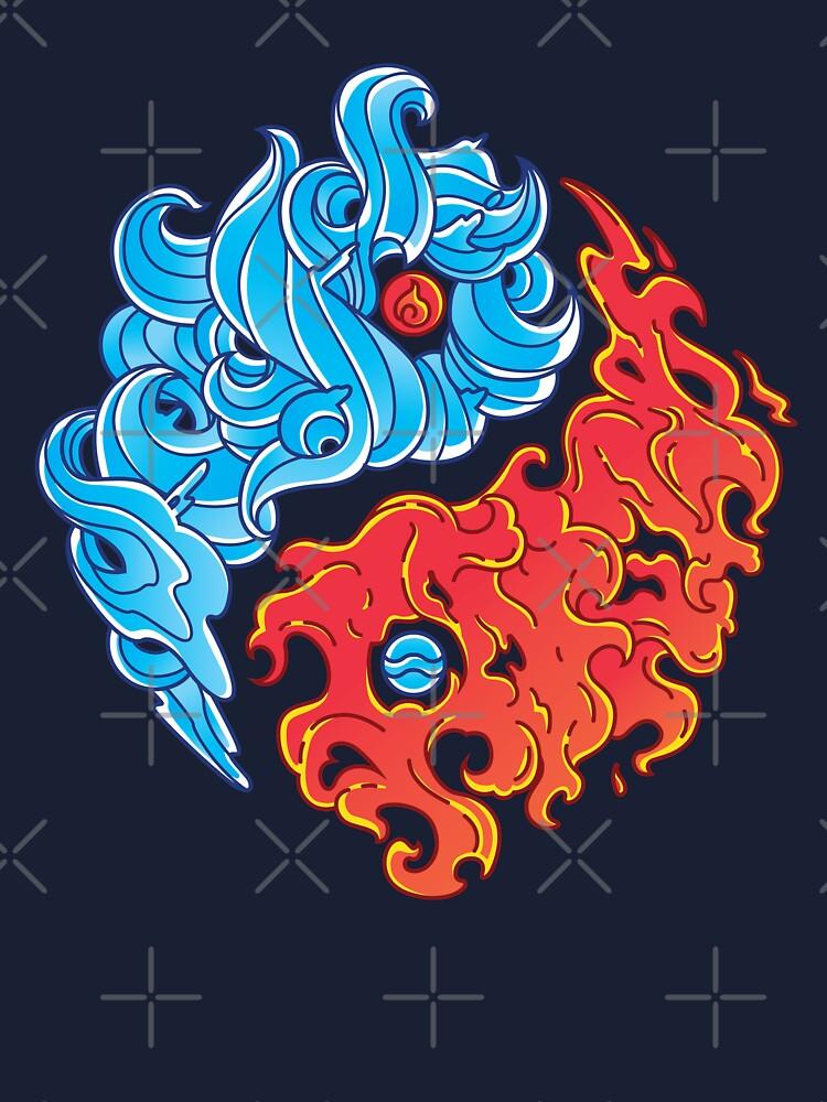 Yin Yang Fire And Water Shirt Chinese Yin Yang Sign Element Kids T Shirt By Nerdninja Redbubble
