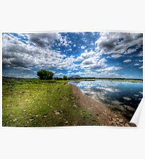 Willow Lake Blue and Green Poster