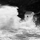 Storm, Porthgain by Jonathan Maddock