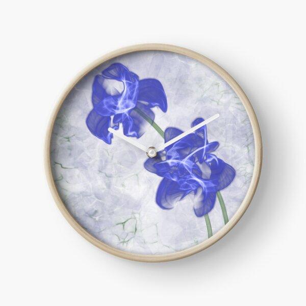 Blue Iris Clock