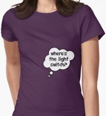 Pregnancy Message from Baby - Where's The Light Switch? by Bubble-Tees.com Womens Fitted T-Shirt