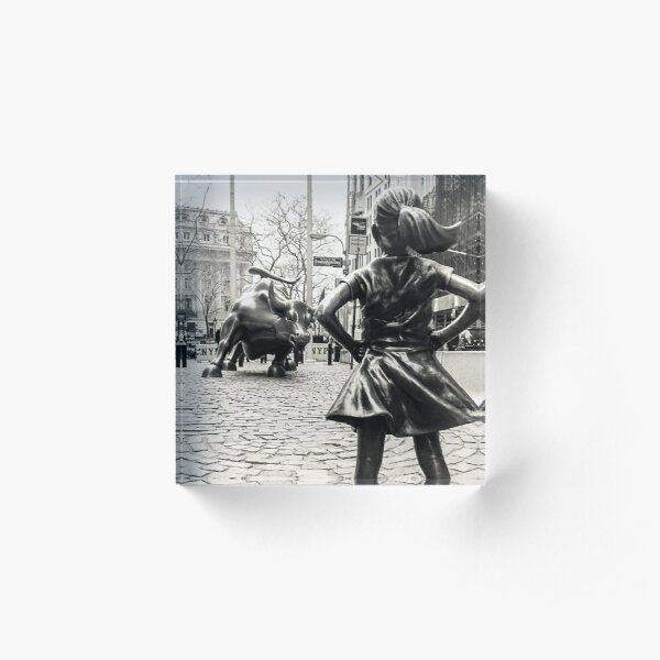 Fearless Girl & Bull NYC Acrylic Block