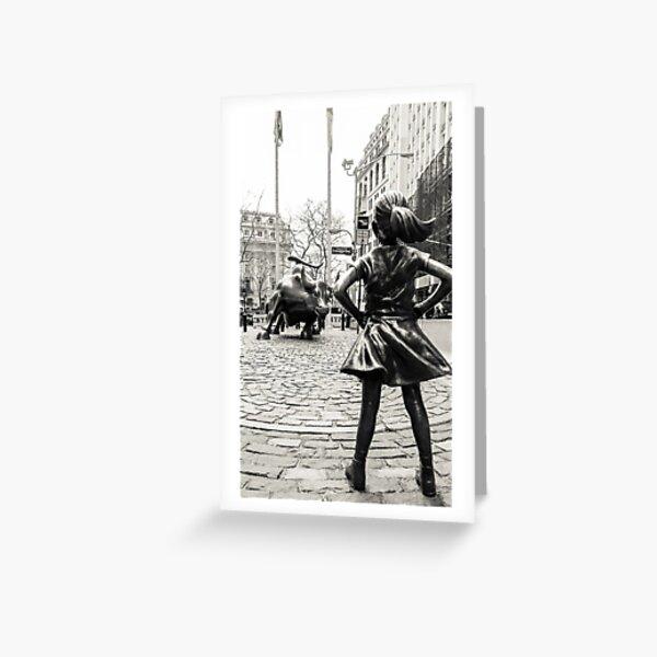 Fearless Girl & Bull NYC Greeting Card