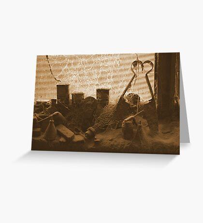 Forgotten items on the windowsill - Upper Plenty Greeting Card