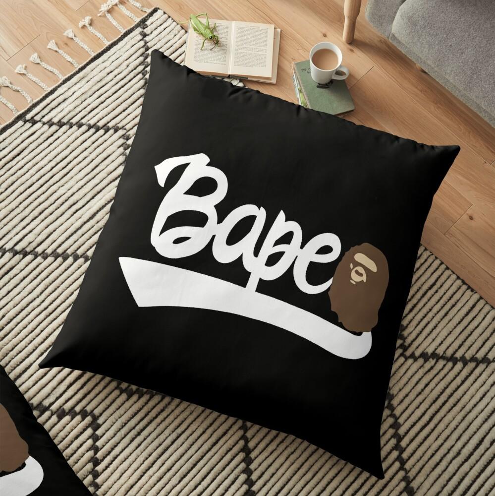 Bape Text Floor Pillow