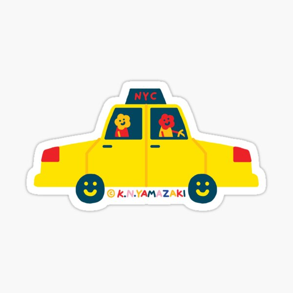 Yellow Cab Sticker