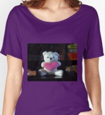 Dreisprachiger Teddy Loose Fit T-Shirt