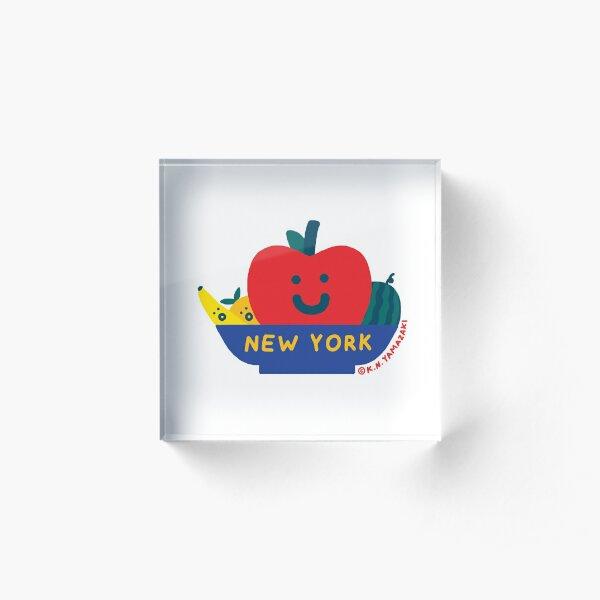 Giant Apple Acrylic Block