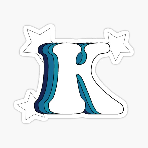 Retro K (Blue) Sticker