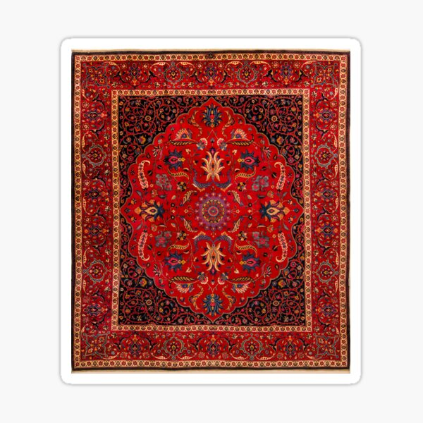 Antique Persian Rug Sticker