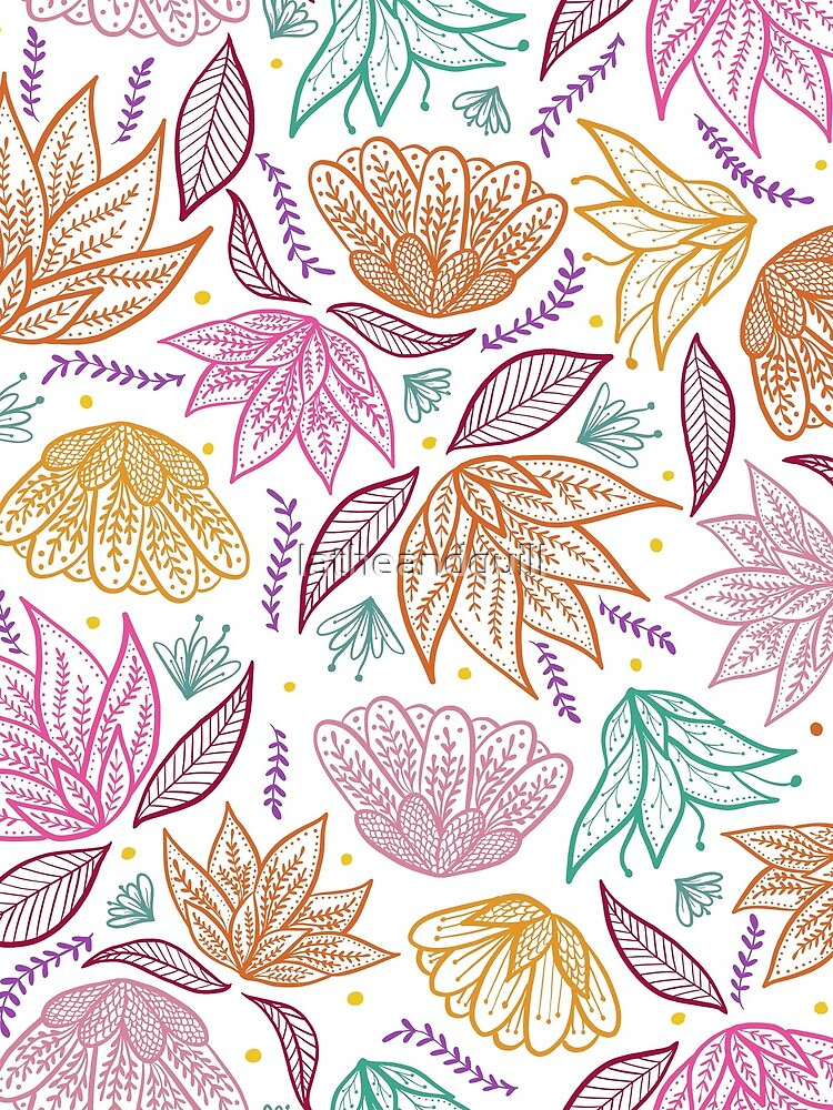 Bright Bohemian Florals by latheandquill