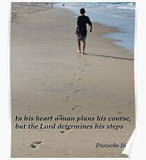 Proverbs 16:9 Poster