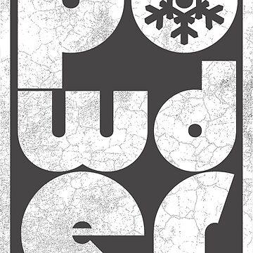 Powder - White | Ski and Snowboard Designs | DopeyArt by DopeyArt