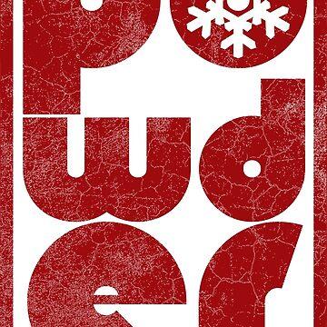 Powder - Red | Ski and Snowboard Designs | DopeyArt by DopeyArt