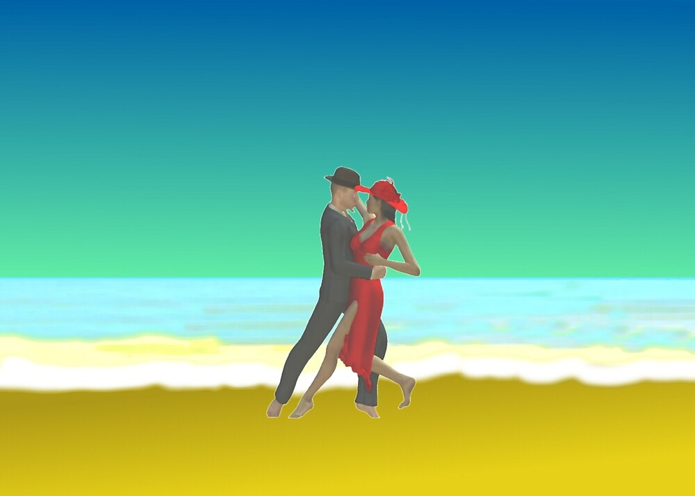 Tango on the beach by Klaus Engels