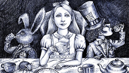 at the tea party  by vian