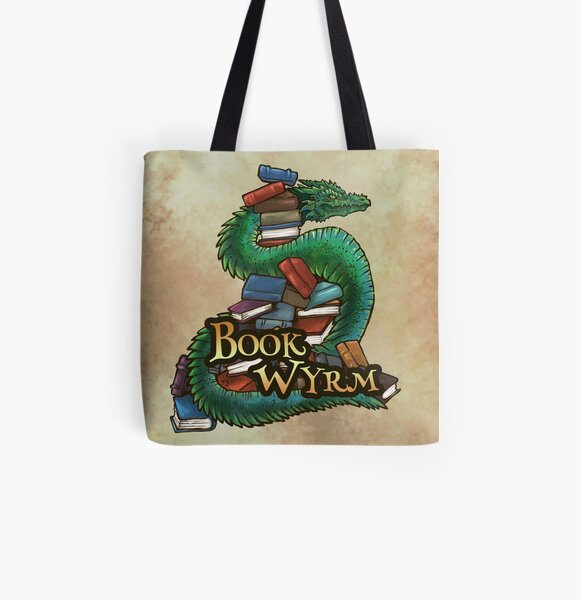 Book Wyrm Pile All Over Print Tote Bag