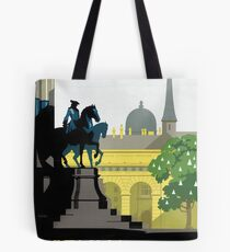Vienna Vintage Travel Poster Restored Tote Bag